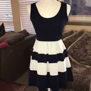 Adorable navy and whit dress by Finn & Cover